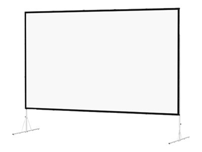Da-Lite Fast-Fold Deluxe Screen System Wide Format Projection screen with legs rear