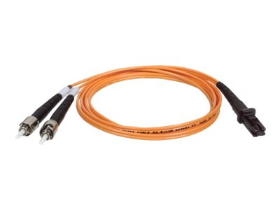 Tripp Lite 3M Duplex Multimode 62.5/125 Fiber Optic Patch Cable MTRJ/ST 10' 10ft 3 Meter - patch cable - 3 m - orange