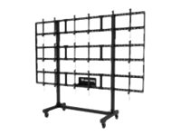 Peerless-AV Portable Video Wall DS-C555-3X3 - Wagen für Videoleinwand - Black Powder Coat - Bildschirmgröße: 116.8-139.7 cm (46