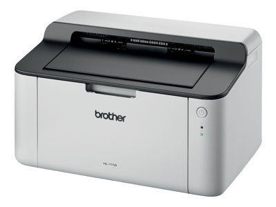 Brother HL-1110 - Printer - monochrome - laser - A4/Legal - 2400 x 600 dpi - up to 20 ppm - capacity: 150 sheets - USB 2.0