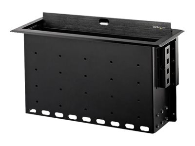 StarTech.com Dual-Module Conference Table Connectivity Box-Customizable Mounting plate bl