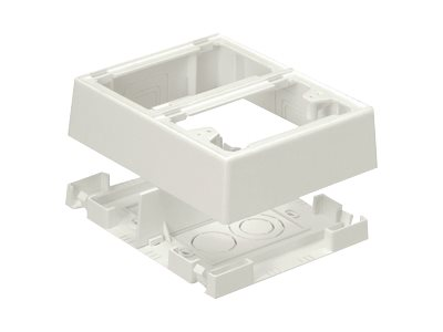 Panduit Pan-Way Fast-Snap Power Rated Two-Piece Snap Together Outlet Box - cable junction box