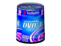 Verbatim - 100 x DVD-R - 4.7 GB 16x - matt silver - spindle