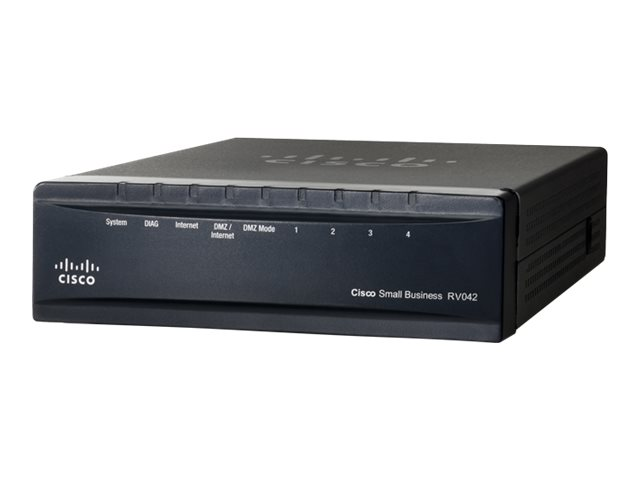 Cisco Small Business RV042 - Router - 4-Port-Switch - WAN-Ports: 2