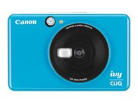 Canon ivy CLIQ Digital camera compact with photo printer 5.0 MP seaside blue