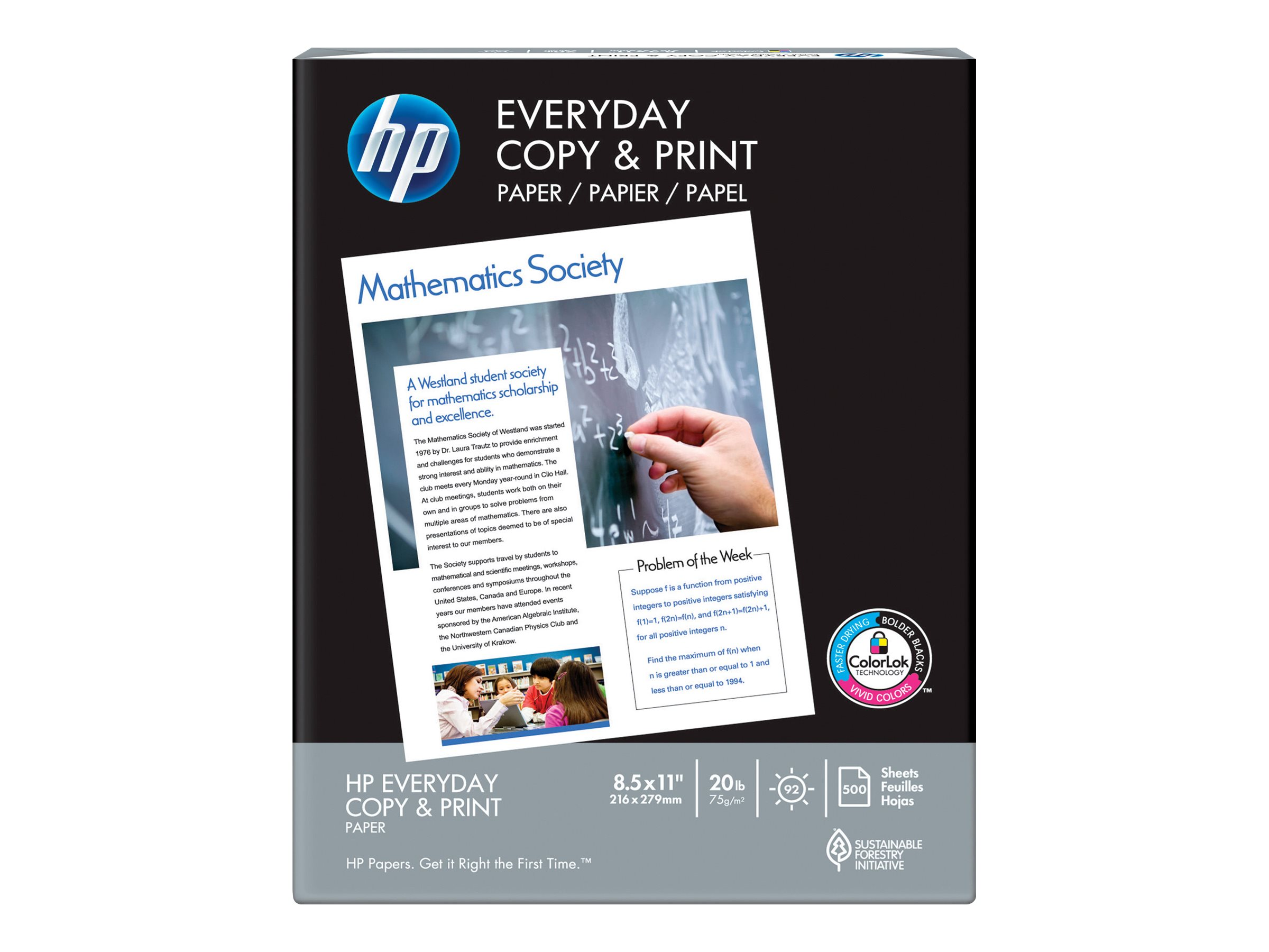 HP Everyday Copy and Print Paper - plain paper - 500 sheet(s) - Letter - 75 g/m²