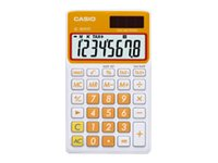 Casio SL-300VC Pocket calculator 8 digits solar panel, battery carrot orange