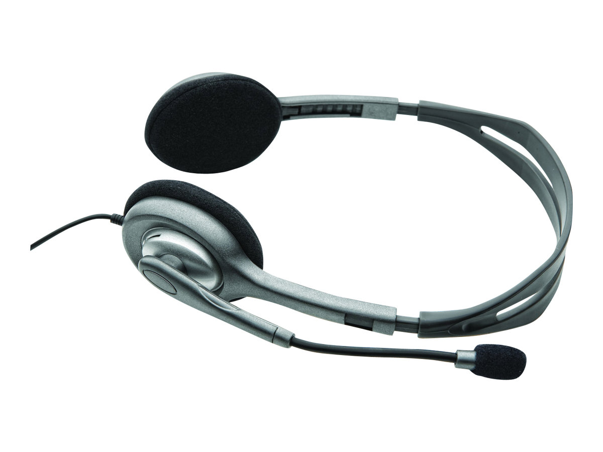 Logitech Stereo Headset H110 - Headset - On-Ear - verkabelt
