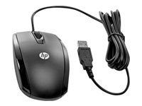 HP Essential - Mouse - right and left-handed - optical - 3 buttons - wired - USB - black - for Chromebook 11 G7, 11A G6, 14A G5; Chromebook x360; ProBook 430 G6, 450 G6; ProBook x360