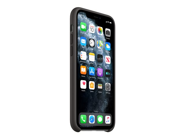 Apple - Back cover for cell phone - silicone - black