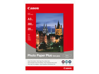 Picture of Canon Photo Paper Plus SG-201 - photo paper - 20 sheet(s) - A3 - 260 g/m² (1686B026)