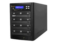 Aleratec DVD/CD Flash Copy Tower Disk duplicator DVD±RW (±R DL) / DVD-RAM x 4 max drives: 4