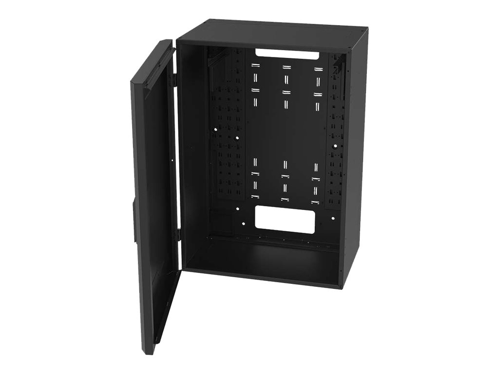 Legrand 8RU Vertical Wall-Mount Cabinet with Full Door - 36in Height TAA system cabinet - 8U