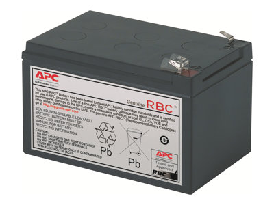 APC Replacement Battery Cartridge #4 UPS battery 1 x lead acid black