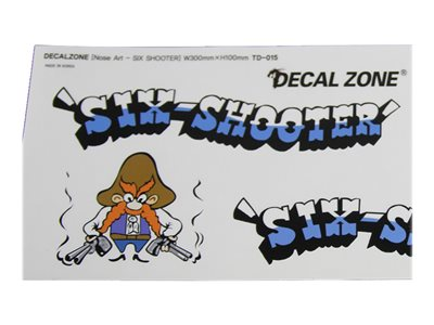 "Decal Zone - Nose Art ""Six Shooter"" Sticker Decal"