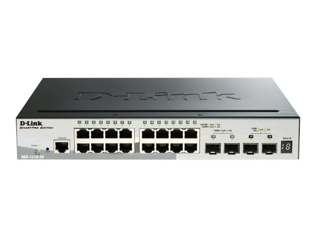 D-Link SmartPro DGS-1510-20 - switch - 20 ports - managed - rack-mountable