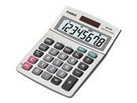Casio MS-80S Desktop calculator 8 digits solar panel, battery silver metall