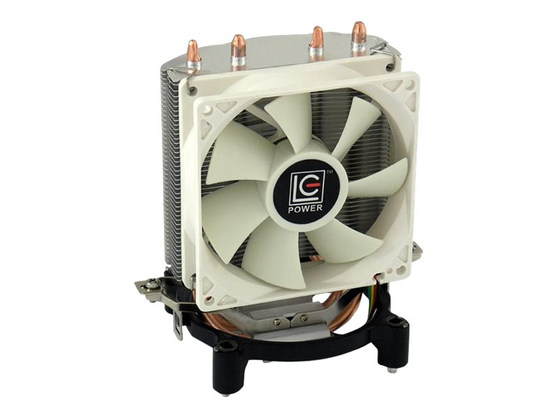 LC-Power LC Power Cosmo Cool LC-CC-95 - Prozessorkühler - ( LGA775 Socket, LGA1156 Socket, Socket AM2, Socket AM3, LGA1155 Socket ) - Aluminium und Kupfer - 90 mm - weiß, Silber