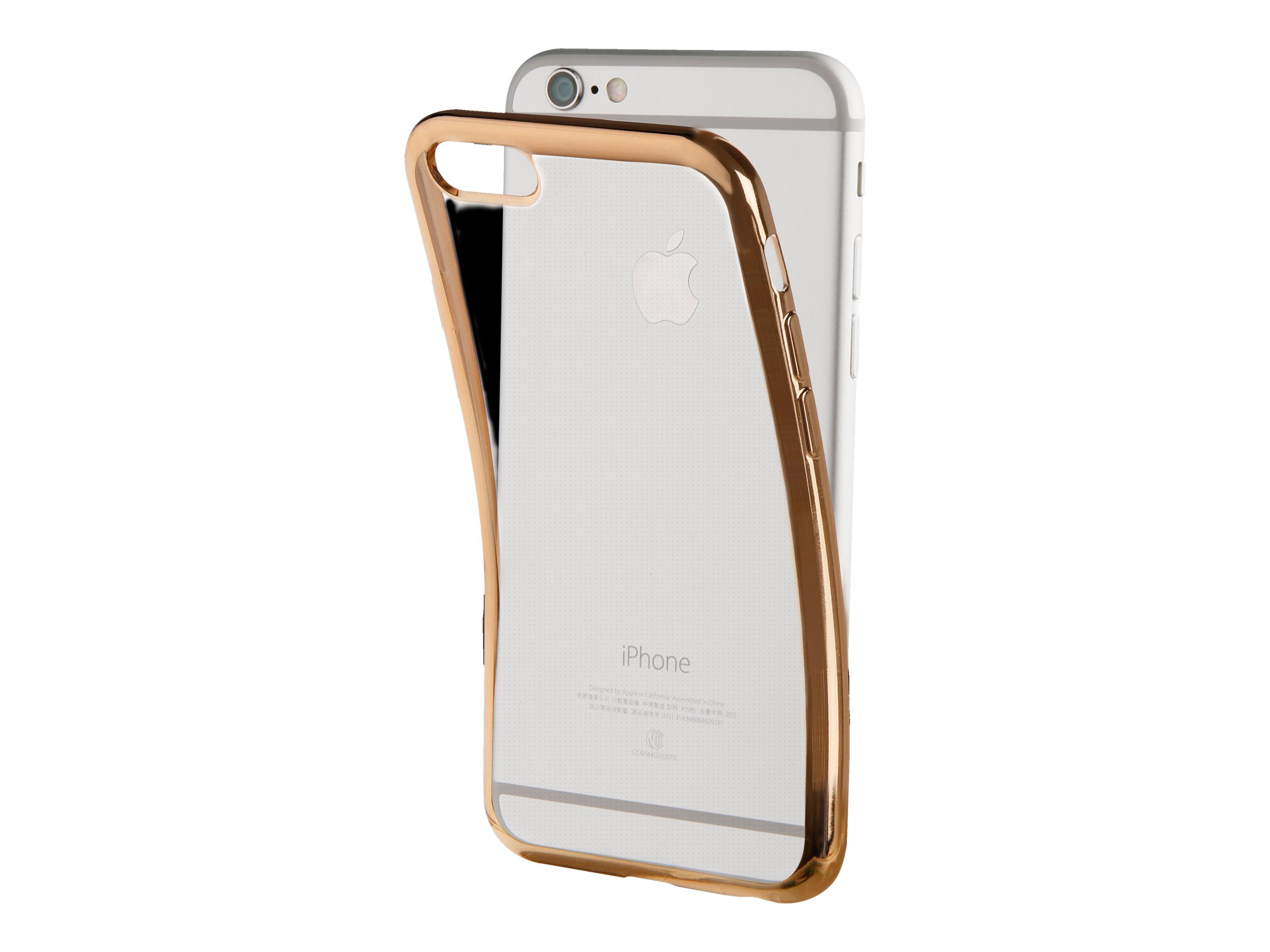 MUVIT LIFE - Coque de protection pour iPhone 7 Plus - transparent - or