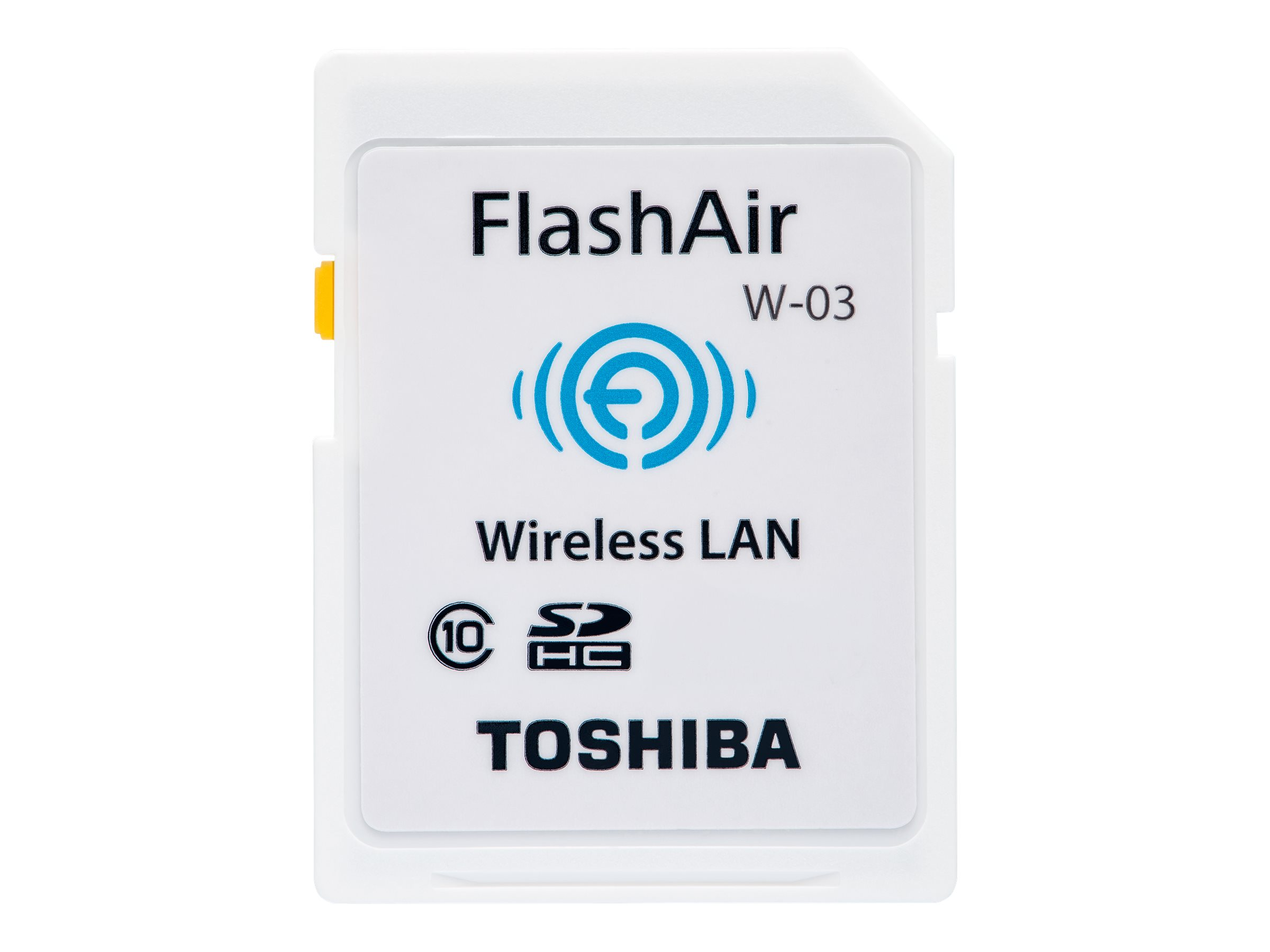 Toshiba FlashAir W-03 - Wireless-Speicherkarte - 32 GB - Class 10 - SDHC - Wi-Fi