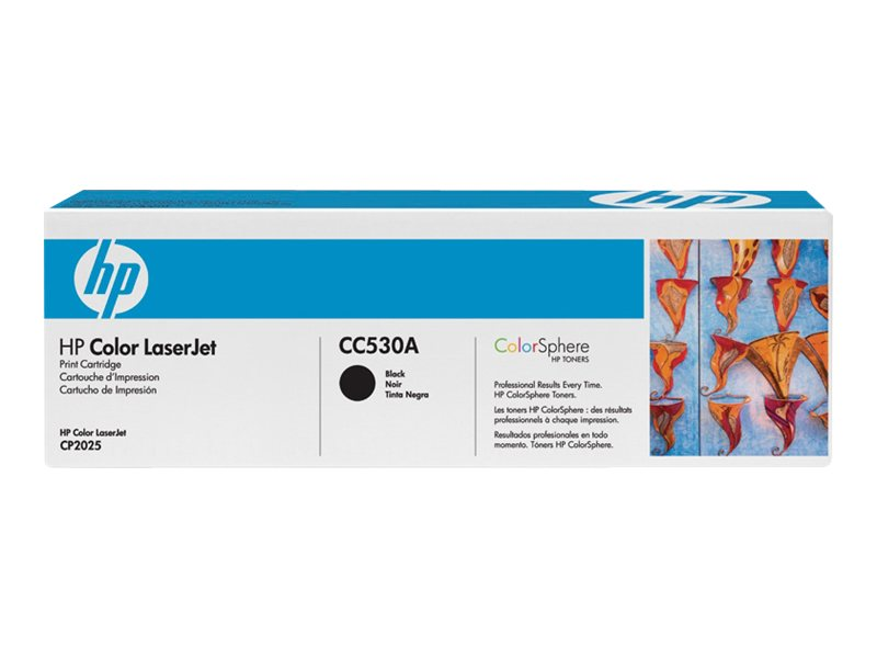 HP 304A - black - original - LaserJet - toner cartridge (CC530A)