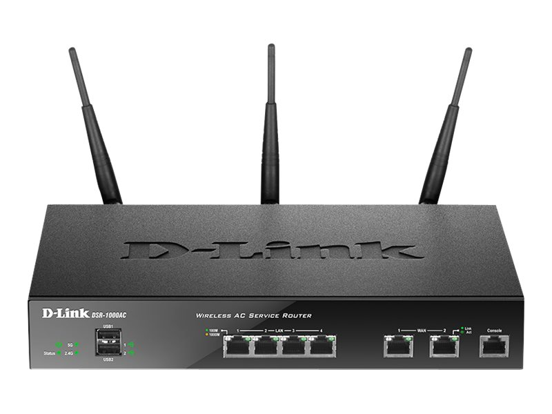 D-Link DSR-1000AC - wireless router - 802.11a/b/g/n - desktop