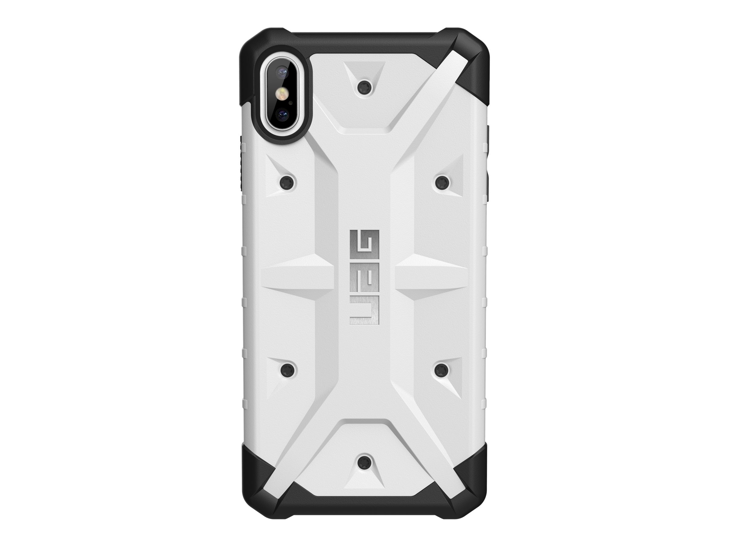 UAG Rugged Case for iPhone Xs Max [6.5-inch screen] - Pathfinder White - back cover for cell phone