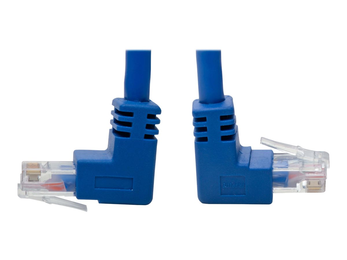Tripp Lite Cat6 Patch Cable Up-Angled / Down Angled UTP Molded M/M Blue 5ft - patch cable - 1.52 m - blue