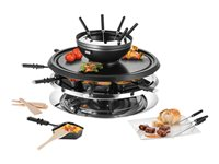 UNOLD RACLETTE 48726 Multi 4 in 1 - Raclette/Fondue/Grill/Heißer Stein