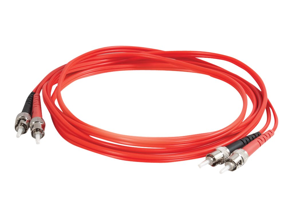 C2G 2m ST-ST 62.5/125 OM1 Duplex Multimode PVC Fiber Optic Cable - Red - patch cable - 2 m - red
