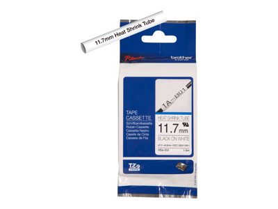 Brother HSe-231 Black on white Roll (0.47 in x 59 in) 1 roll(s) tube