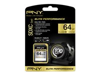 PNY Elite Performance - Carte mémoire flash - 64 Go - UHS Class 1 / Class10 - SDXC UHS-I