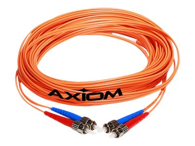 Axiom SC-ST Multimode Duplex OM2 50/125 Fiber Optic Cable - 2m - Orange - network cable - 2 m