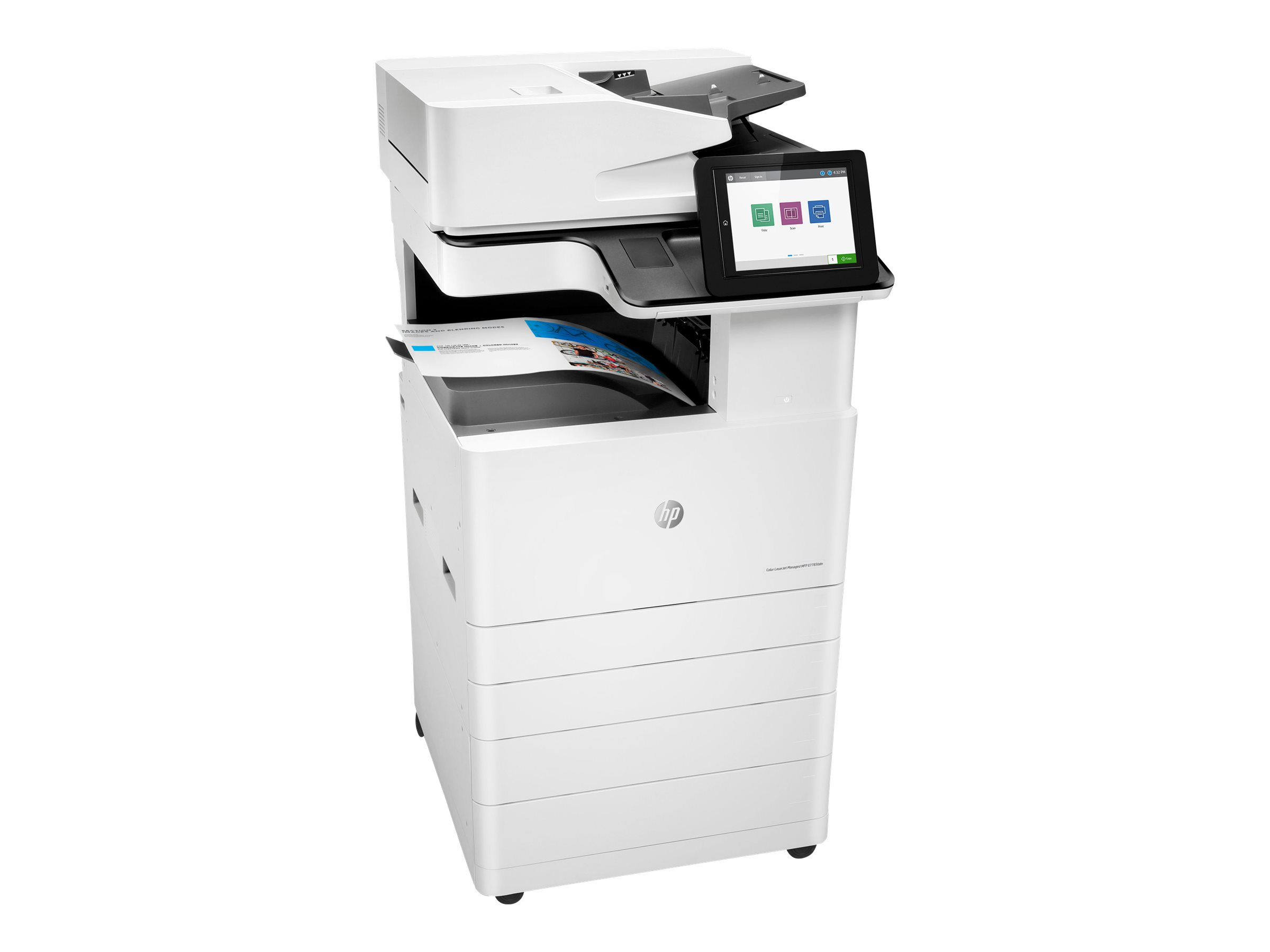 Copieur Color LaserJet Managed MFP HP E77830dn - vitesse 30ppm vue 3/4 gauche