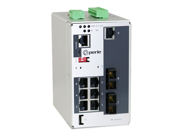 Perle IDS-509G2-C2MD05 - switch - 9 ports - managed