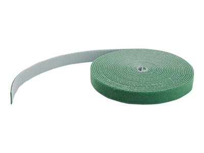 StarTech.com 100ft Hook and Loop Roll, Cut-to-Size Reusable Cable Ties, Bulk Industrial Wire Fastener Tape /Adjustable Fabric Wraps Green / Resuable Self Gripping Cable Management Straps - Adjustable Loop Ties (HKLP100GN)
