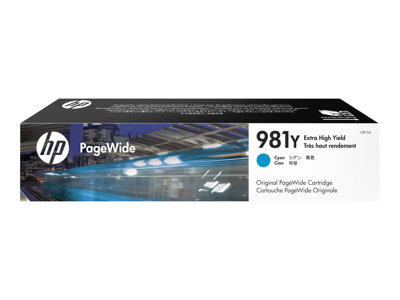 HP 981Y 185 ml Extra High Yield cyan original PageWide ink cartridge