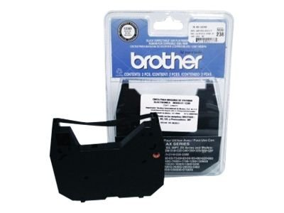 Brother - black - print ribbon cassette (pack of 4)