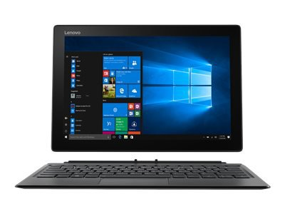 "Lenovo Miix 520-12IKB 20M3 - Tablet - with detachable keyboard - Core i3 7130U / 2.7 GHz - Win 10 Pro 64-bit - 4 GB RAM - 128 GB SSD NVMe - 12.2"" IPS touchscreen 1920 x 1200 - UHD Graphics 620 - Wi-Fi, Bluetooth - iron grey"