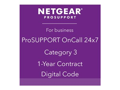 NETGEAR ProSupport OnCall 24x7 Category 3 Technical support phone consulting 1 year 24