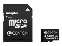 Centon MP Essential Flash memory card (SD adapter included) 4 GB Class 10 microSD