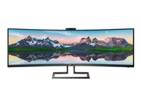 "Philips Brilliance P-line 499P9H - Écran LED - incurvé - 49"" (48.8"" visualisable) - 5120 x 1440 5K2K UltraWide - VA - 450 cd/m² - 3000:1 - 5 ms - haut-parleurs - noir texturé"