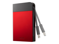 BUFFALO MiniStation Extreme - Hard drive - encrypted - 1 TB - external (portable) - USB 3.0 - red