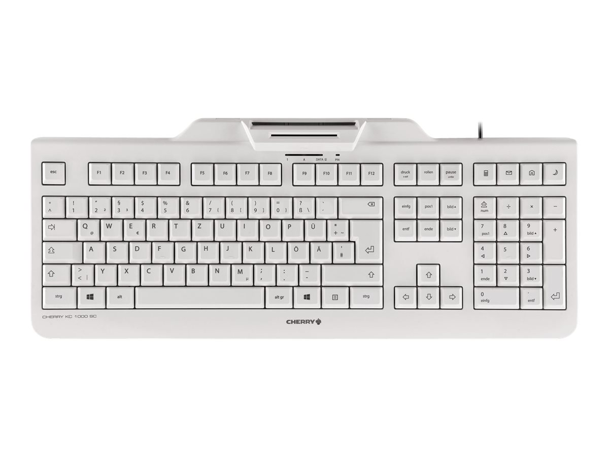 CHERRY KC 1000 SC - Tastatur - Deutsch - Pale Gray