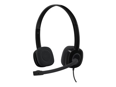 Logitech H151 Stereo Headset with Noise-Cancelling Mic - headset
