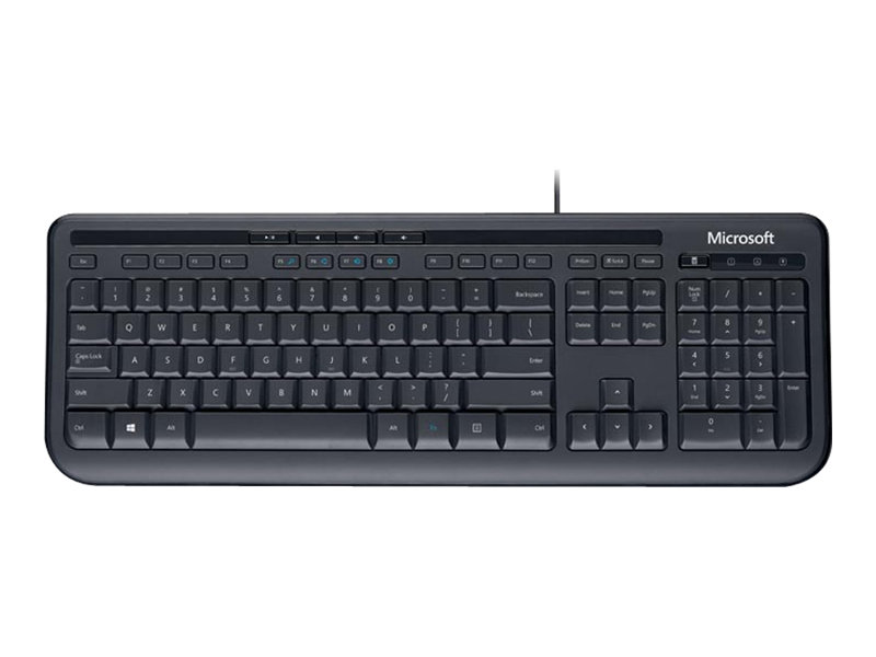 Microsoft Wired Keyboard 600 - Clavier - USB - allemand - noir