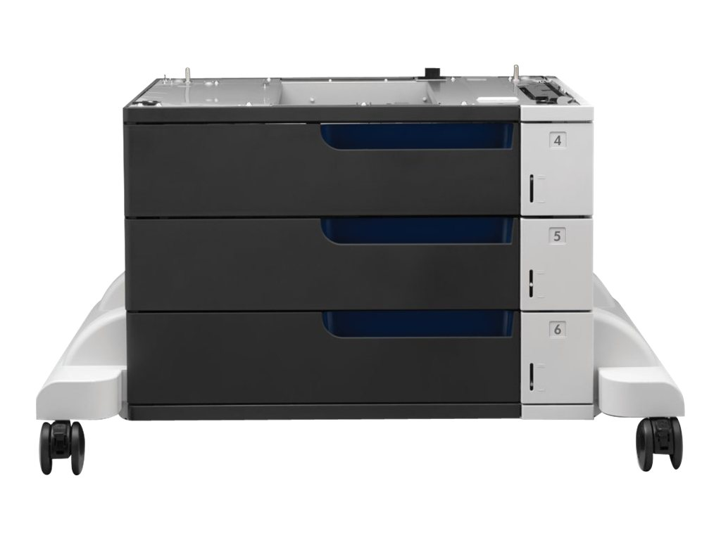 HP Paper Feeder and Stand - Druckerbasis mit Medienzuführung - 1500 Blätter in 3 Schubladen (Trays) - für Color LaserJet Enterprise M855dn, M855x+, M855x+ NFC/Wireless direct, M855xh