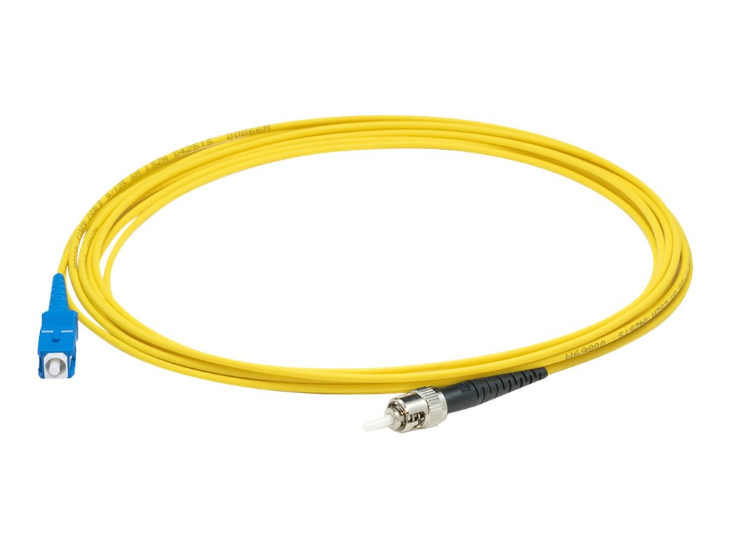 AddOn 3m SC to ST OS1 Yellow Patch Cable - patch cable - 3 m - yellow