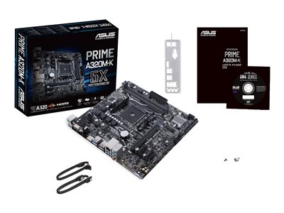 ASUS PRIME A320M-K - motherboard - micro ATX - Socket AM4 - AMD A320
