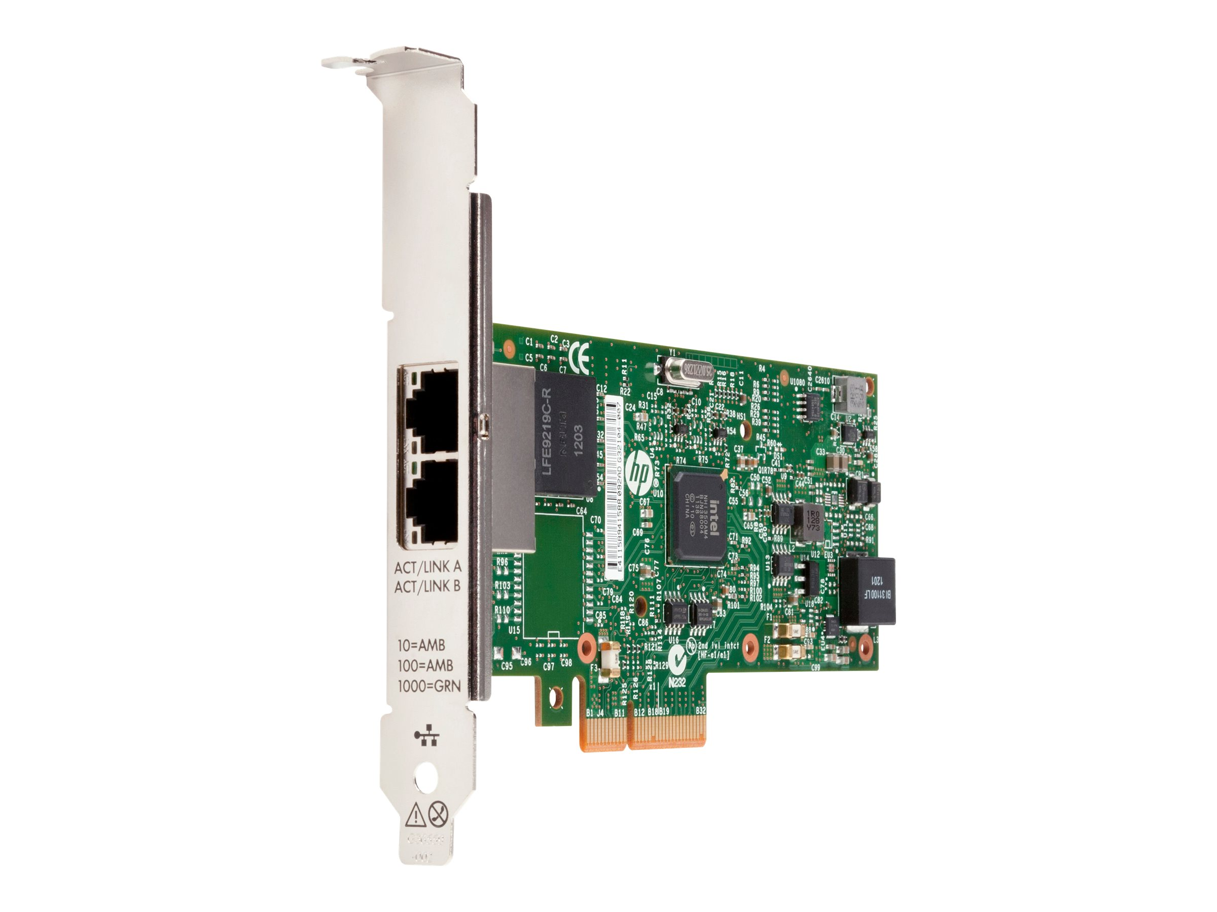 HP 361T - Netzwerkadapter - PCIe 2.1 x4 low profile - Gigabit Ethernet x 2 - für Workstation Z220, Z420, Z620, Z820